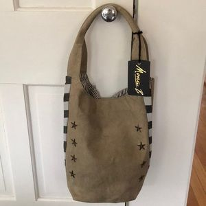 Mona B Star Studded Upcycled Canvas Tote, M-3007